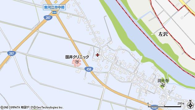 山形県寒河江市中郷1276周辺の地図