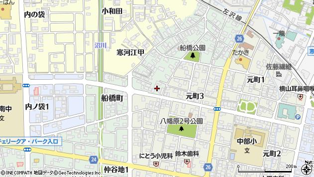 山形県寒河江市船橋町7周辺の地図