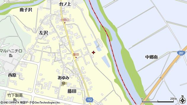山形県西村山郡大江町藤田63周辺の地図