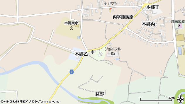 山形県西村山郡大江町荻野271周辺の地図