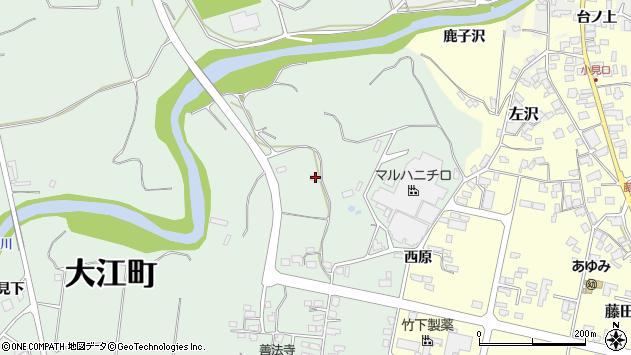 山形県西村山郡大江町小見246周辺の地図