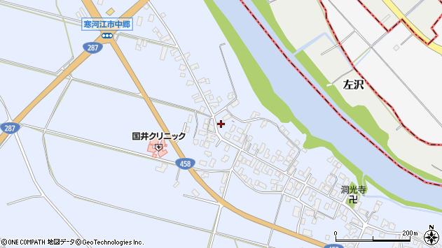 山形県寒河江市中郷959周辺の地図