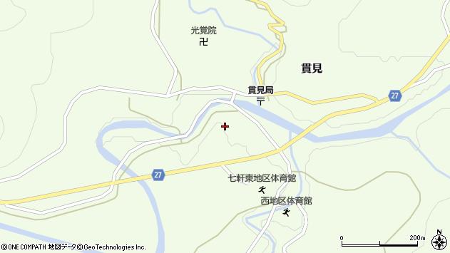 山形県西村山郡大江町貫見382周辺の地図