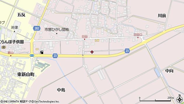 山形県寒河江市日田五反163周辺の地図