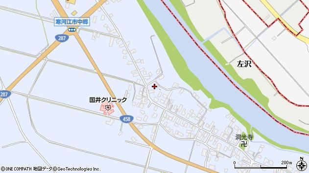 山形県寒河江市中郷954周辺の地図