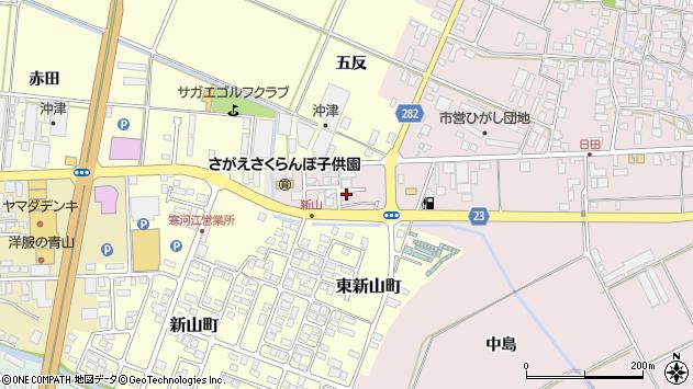 山形県寒河江市日田五反206周辺の地図