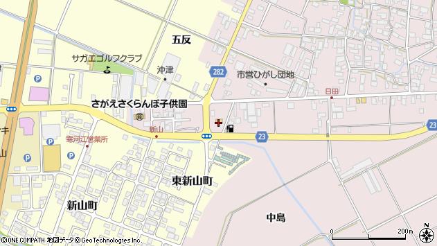 山形県寒河江市日田五反209周辺の地図