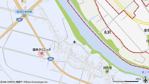 山形県寒河江市中郷940周辺の地図