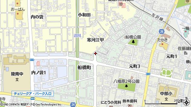 山形県寒河江市船橋町15周辺の地図