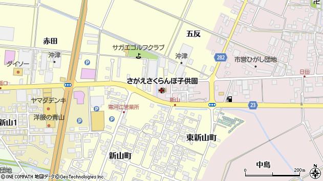 山形県寒河江市日田五反201周辺の地図