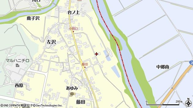山形県西村山郡大江町藤田73周辺の地図