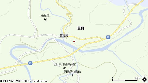 山形県西村山郡大江町貫見34周辺の地図