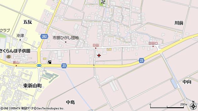 山形県寒河江市日田150周辺の地図