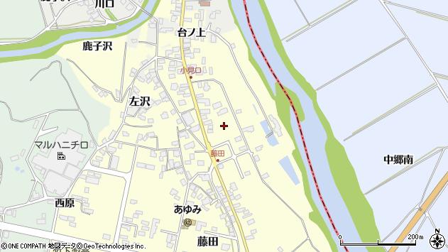 山形県西村山郡大江町藤田前田周辺の地図