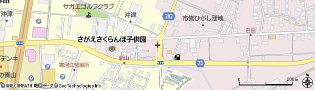 山形県寒河江市日田五反208周辺の地図