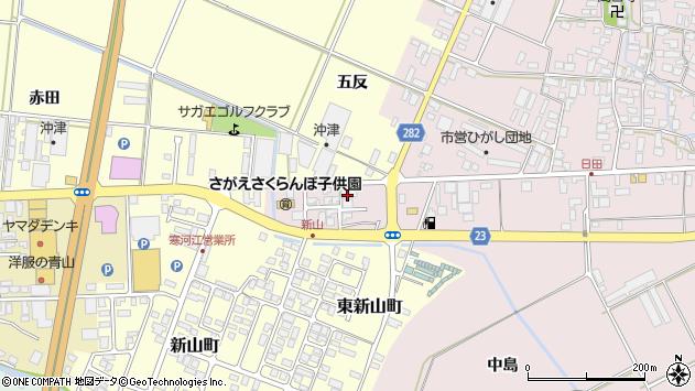 山形県寒河江市日田五反207周辺の地図