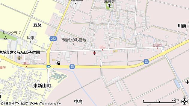 山形県寒河江市日田五反96周辺の地図