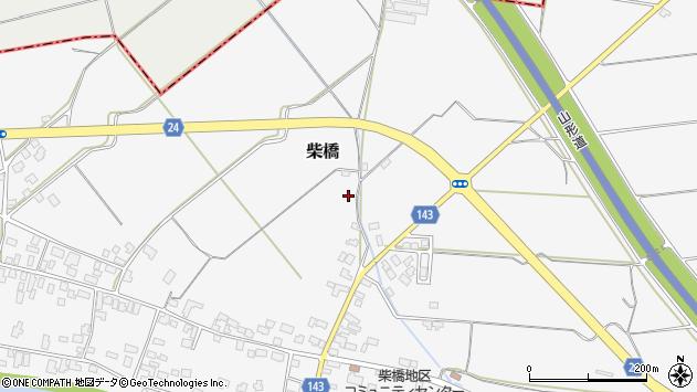 山形県寒河江市柴橋金谷周辺の地図