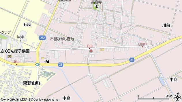 山形県寒河江市日田101周辺の地図