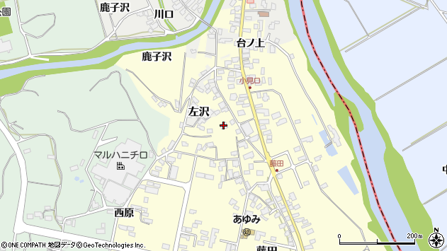 山形県西村山郡大江町藤田466周辺の地図