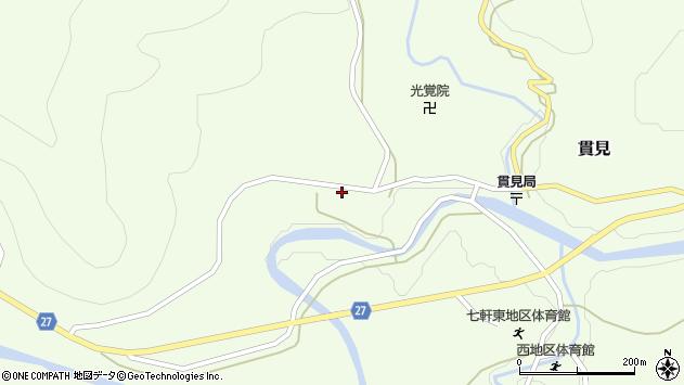 山形県西村山郡大江町貫見184周辺の地図