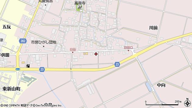 山形県寒河江市日田五反107周辺の地図