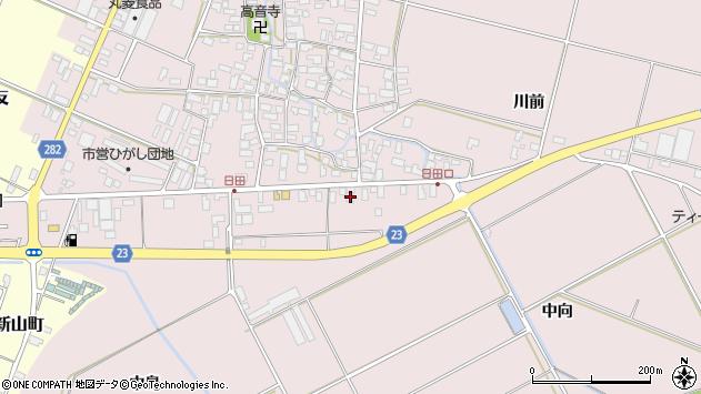 山形県寒河江市日田五反115周辺の地図
