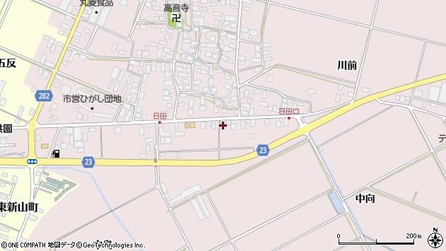 山形県寒河江市日田五反110周辺の地図