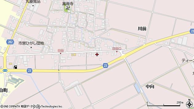 山形県寒河江市日田五反117周辺の地図