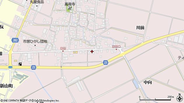 山形県寒河江市日田五反111周辺の地図