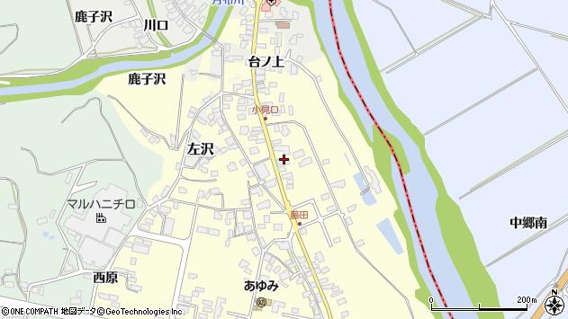 山形県西村山郡大江町藤田76周辺の地図
