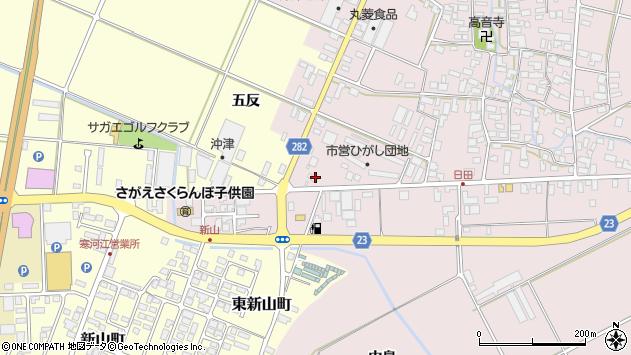 山形県寒河江市日田五反158周辺の地図