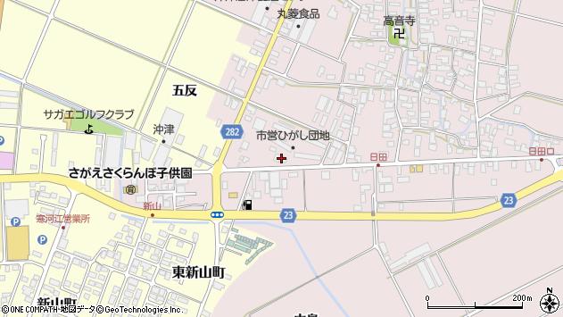山形県寒河江市日田五反84周辺の地図