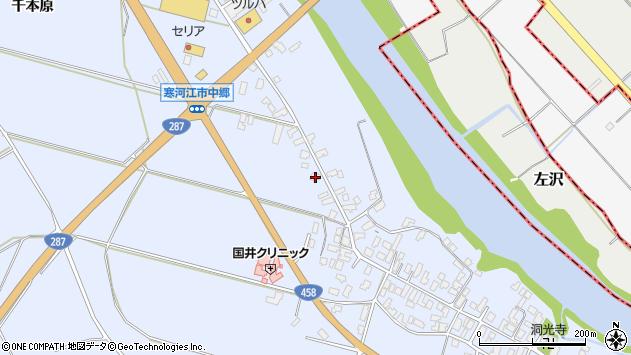 山形県寒河江市中郷1518周辺の地図