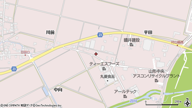 山形県寒河江市日田平田193周辺の地図