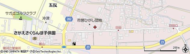 山形県寒河江市日田五反72周辺の地図