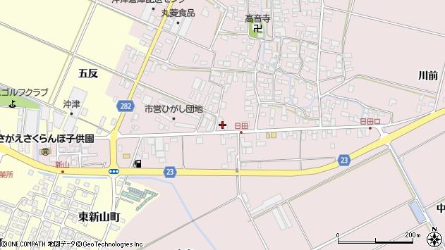 山形県寒河江市日田五反67周辺の地図