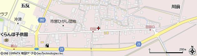 山形県寒河江市日田五反63周辺の地図