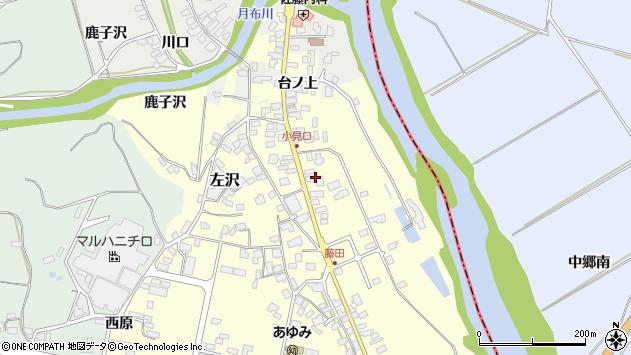 山形県西村山郡大江町藤田48周辺の地図