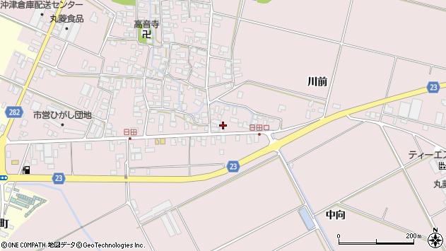 山形県寒河江市日田576周辺の地図