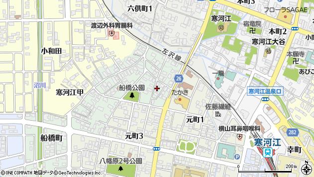 山形県寒河江市船橋町3周辺の地図