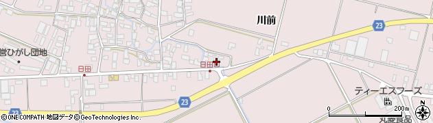 山形県寒河江市日田楯越394周辺の地図