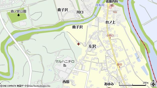 山形県西村山郡大江町藤田637周辺の地図
