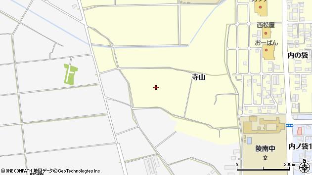 山形県寒河江市寒河江寺山周辺の地図