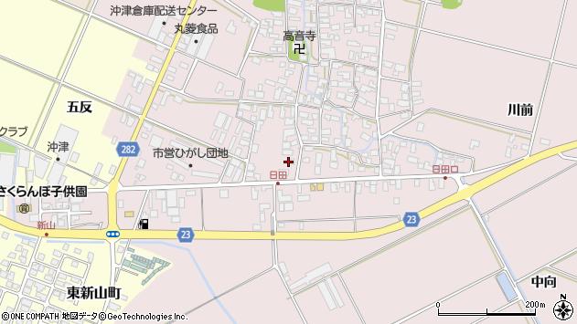 山形県寒河江市日田五反60周辺の地図