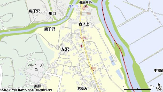 山形県西村山郡大江町藤田44周辺の地図