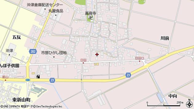 山形県寒河江市日田556周辺の地図