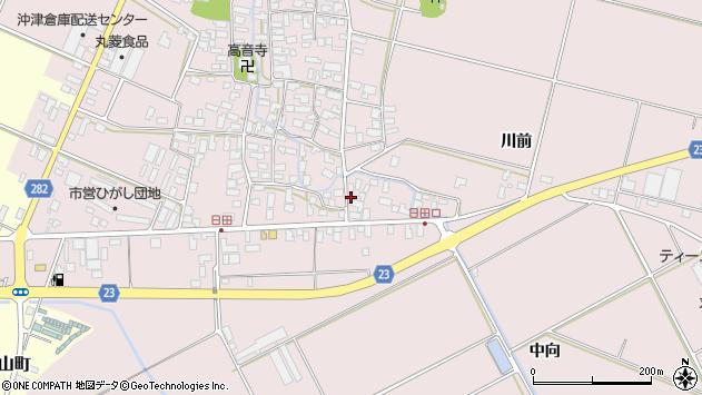 山形県寒河江市日田569周辺の地図