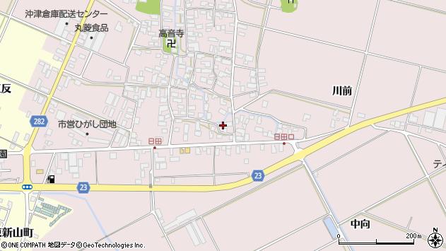 山形県寒河江市日田563周辺の地図