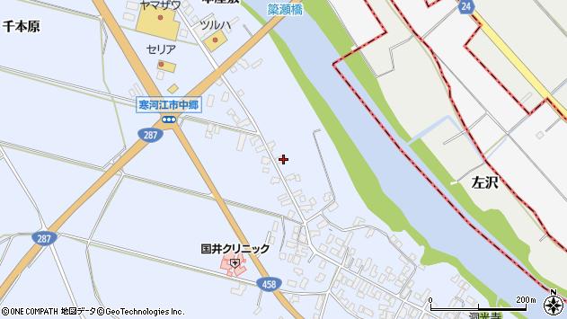 山形県寒河江市中郷1365周辺の地図